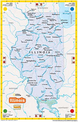 Giant Traveling Floor Map of Illinois | Illinois Geographic ...